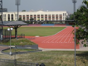 Recently completed oval at the University of Makati a more than ideal track for future national meets