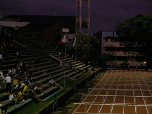 Hurdling under the moonlight: Participants of the 110m hurdles prepares for  their heats during UAAP 75 at the ULTRA