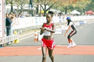 Jepkirui during Rio de Janeiro Marathon