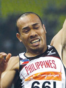 Dagmil during the 2010 Asian Games long jump where he placed 6th with a 7.52m jump. (Photocredit: Manila Bulletin)