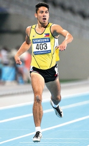 Jesson Cid opened the 2014 Asian Games decathlon competitions witha PB 10.63s in the 100m, which incidentally, made him the fastest Pinoy over said event this 2014 season. (Photocredit: AP)