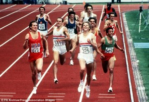 Steve Scott finished 2nd behind Steve Cram in the 1500m final of the 1983 World Championships, beating Said Aouitta and Steve Ovett. (Photocredit: Press Association)