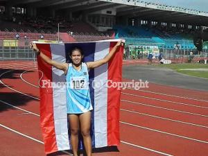 Supaporn Somsri won the girls 400m hurdles
