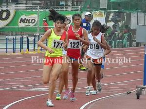 Lo Thi Thanh (171) won the 3,000m comfortably in 10:36.83