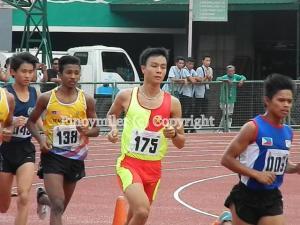 Le Quang Hoa (175) won the boys steeplechase